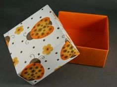 DIY Paper Origami Gift Box with Lid - The Idea King