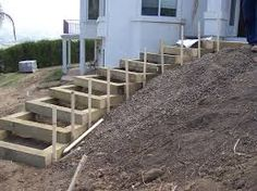 Bilderesultat for wooden stairway outside