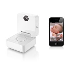 This app-controlled Withings baby monitor lets you check on your baby from any location using your iPhone®, iPad®, or iPod® touch.