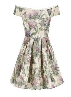 **Chi Chi London Floral bardot midi dress