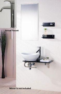 bathroom sinks that make a BIG impact - Small bathroom sinks that make a BIG impact Modern Bathroom Sink, Small Bathroom Vanities, Tiny Bathrooms, Upstairs Bathrooms, Bathroom Sink Vanity, Bathroom Design Small, Vanity Set, Bathroom Things, Bathroom Stuff