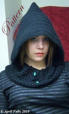dark hooded cowl