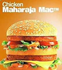 McDonald's India's Chicken version of the Big Mac - onions, lettuce, tomato & cheese on a sesame seed bun    #mcdonalds #McDonald's