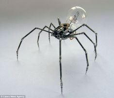 Creepy: This spider, made from watch parts and a bulb, is surprisingly realistic - A Mechanical Mind