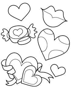 Kleurplaat hart/ valentijn/ moederdag