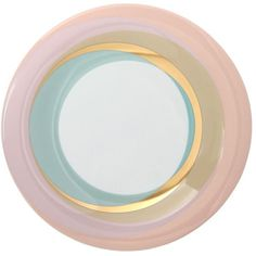 Furstenberg 1747 Home Fluen Shifting Colors Breakfast Plate (120 CAD) ❤ liked on Polyvore featuring home, kitchen & dining, dinnerware, home decor, plates, multicolor, dishwasher safe dinnerware, colorful plates, multi colored dinnerware and colored dinnerware