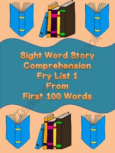 My Best Selling Item Giveaway! Enter for your chance to win 1 of 3.  Sight Word Story Comprehension Fry List 1 from 1st 100 Words (12 pages) from My Kinder Garden on TeachersNotebook.com (Ends on on 3-24-2014)  This giveaway is for my best selling item: Sight Word Story Comprehension Fry List 1 1st 100 Words.  Three winners will be selected.