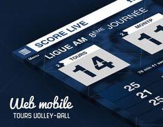 Site mobile pour le club de Volley-Ball Français de Tours. Pour répondre à la problématique : comment intéragir pendant le match avec le spectateur ?