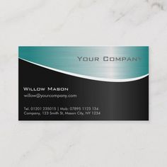 Shop Aqua Stainless Steel, Professional Business Card created by ImageAustralia. Personalize it with photos & text or purchase as is! Metal Texture, Paper Texture, Mason City, Minimalist Business Cards, Professional Business Cards, Aqua Blue, Smudging, Things To Come, Stainless Steel