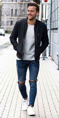 street style men #mens #fashion #style www.wearethebikerstore.com | Leather, Skull, Bikers, Fashion, Men, Women, Home Decor, Jewelry, Acccessory.