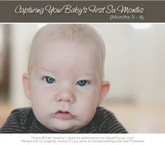 Great #photography tips for capturing older babies (months three & four)  via iHeartFaces.com
