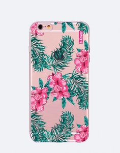 funda-movil-flores-tropical-rosa-2 Estilo Tropical, Phone Cases, See Through, Pink, Flower Designs, Mobile Cases, Phone Case