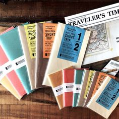 Summer time!!Traveler's Notebook insert new numbers! Beautiful TF original designed colored Kraft paper inserts, perfect for your summer journal and sketching!!