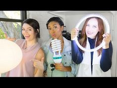 Cheap & DIY Video Lighting Collab with The Sorry Girls! | TECH TALK - YouTube