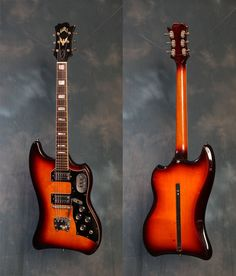 1964 Guild Thunderbird with built-in kickstand. My dream guitar. I would kill for this thing!