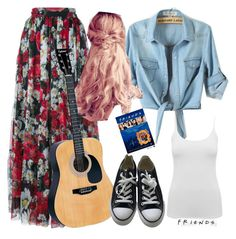 """Phoebe Buffay inspired- F.R.I.E.N.D.S"" by divinitimarie on Polyvore featuring Dolce&Gabbana, M&Co, CO and Converse"
