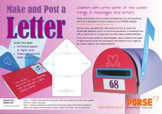 Children write the cutest things, encourage them to have a go at making this envelope they can write inside - then post it! You can find the template on our website http://www.porse.co.nz/content/resources
