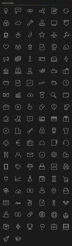Box Iconography by Seth Gutiérrez, via Behance