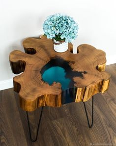 "Wooden coffee table Table with ""lake"" of acacia / . - Wood DIY ideas - Möbel - Wooden coffee table Table with ""lake"" of acacia / …, table - Resin Furniture, Table Furniture, Trendy Furniture, Luxury Furniture, Epoxy Wood Table, Wood Tables, Tree Trunk Table, Wood Table Design, Diy Coffee Table"