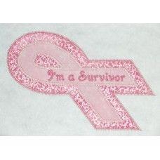 FREE Breast Cancer Double Applique Design