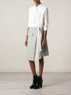 Designer Fashion for Women Sacai wrap skirt Leotard Fashion, Moda Online, European Fashion, Skirt Outfits, A Line Skirts, Rock, Daily Fashion, Trendy Outfits, Casual Chic