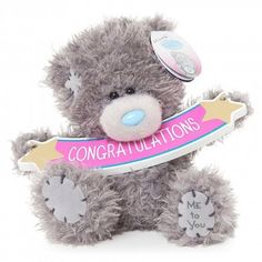 Me To You 5 Tatty Teddy Collectors Plush Bear - Congratulations Plaque