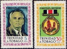 Trinidad and Tobago 1971 Anniversary of Independence Mint SG 397/8 Scott 201/2 Other Trinidad Stamps HERE