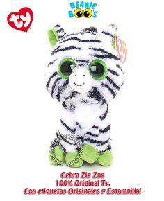 Peluche #BeanieBoos #Cebra #ZigZag #Original #TY #CosasDeChicos #Wabro