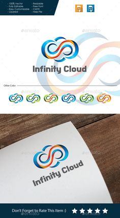 Infinity Cloud Logo — Vector EPS #network #colorful • Available here → https://graphicriver.net/item/infinity-cloud-logo/10668826?ref=pxcr