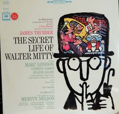 "Secret Life Of Walter Mitty  12"" Vinyl LP (1964 Broadway Musical, music Leon Carr) Marc London, Cathryn Damon, Eugene Roche; Collectible"