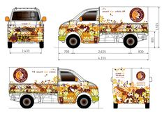 Plan de Coffee Truck Vegetable Delivery, Mobile Cafe, Vehicle Signage, Free Paper Models, Street Coffee, Van Wrap, Coffee Truck, Sunflower Wallpaper, Truck Design