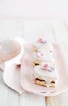 Tea Time. Beautiful little tea cakes