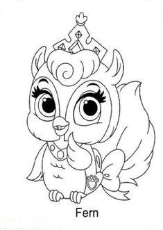 Free Princess Palace Pets Fern Coloring Page