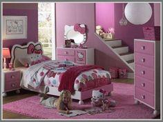 There's no better color for a girl bedroom interior design than pink! It's soft, pretty, yet playful! http://edupaint.com/interior/kamar-tidur-anak/10007-tema-cantik-di-kamar-tidur-anak-perempuan.html #HiyotoIdea #homedesign #housedesign #homedecor #housedecor #bedroom #interiordesign