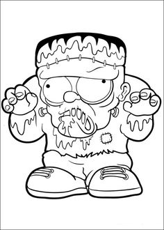 Rankenstein A Trash Pack Monster Coloring Page