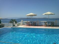 Hotel pool, Ouranoupoli, Makedonia, Greece