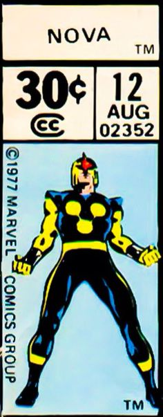 Marvel corner box art - Nova