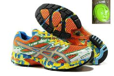 95ebc848c4e Low Price Asics GEL Noosa Tri 6 Mens Orange Green White Blue Yellow  Basketball Shoes Shop
