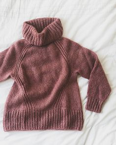 Ravelry: Aube Sweater pattern by Déborah Le Port Le Point, Knitting, Sweaters, Dawn, Diamond Pattern, Polo Neck, Stockings, Tricot, Stricken