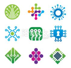 Computer science technology IT developer communications logo for cutting edge new age world future company business and brand corporation icon set - stock vector (Computer Tech Logo) Computer Logo, Computer Science, Science And Technology, Science Crafts, Science Fair Projects, Ict Logo, Logo Software, Icon Design, Logo Design