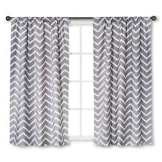 Chevron Pattern - Grey or Teal Circo™ Curtain Panel Chevron Print