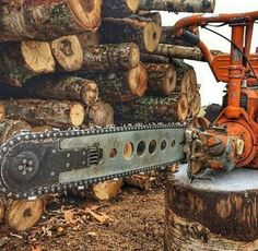 Old Tractors, Small Engine, Wood Cutting, Chainsaw, Good Old, Outdoor Power Equipment, Weird, Tools, History