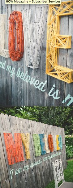 DIY Typography Letters