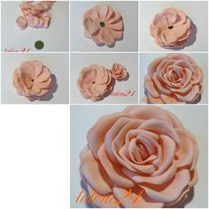 How to make Quick Modular Rose step by step DIY tutorial instructions, How to, how to make, step by step, picture tutorials, diy instructions, craft, do it yourself by lenore