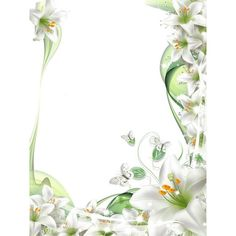 Transparent PNG Photo Frame with White Lilies Flowers ❤ liked on Polyvore featuring home, home decor, frames, white frames, transparent frames, white home decor, white picture frames and white home accessories
