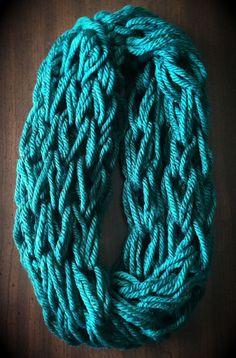 d3308e0c8f363 Arm Knit Scarf Infinity Grand Rapids Green by WArmknitz on Etsy