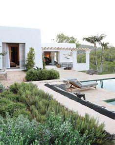 Understated luxury in an Ibizan villa Ibiza Style Interior, Island Villa, Moraira, Greek House, Spanish House, Backyard, Patio, Mediterranean Homes, My Dream Home