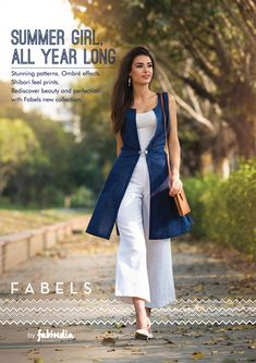Fabels by Fabindia - The Wabi Sabi Collection on Behance (Love the vest! and the crops) Indian Designer Outfits, Indian Outfits, Indian Dresses, Stylish Dresses, Trendy Outfits, Fashion Dresses, Dress Indian Style, Indian Wear, Western Dresses