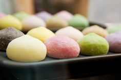 Mochi ice cream!      These are the only ingredients you need:    Sweet rice powder  Sugar  Water   Ice cream  Cornstarch