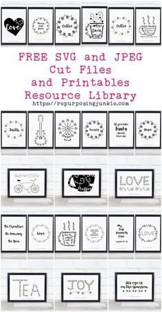 Free svg and jpeg cut files and printables resource library Cricut Air, Cricut Vinyl, Cricut Stencils, Free Stencils, Making Stencils, Printable Stencils, Adhesive Stencils, Free Printable Quotes, Cricut Help